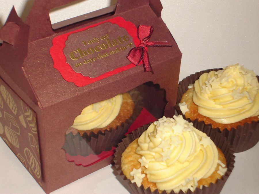 Individual Cupcake Box with a Fitted Base |