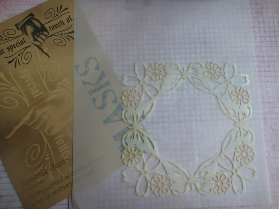 That Special Touch Of Mica Mask Parchment Butterfly Workshop