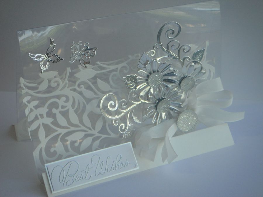 spellbinders shapeabilities botanical acetate stand card