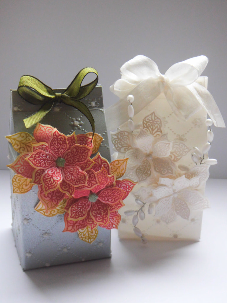 Christmas table pointsettia gift box part 2 - Table gifts for christmas ...