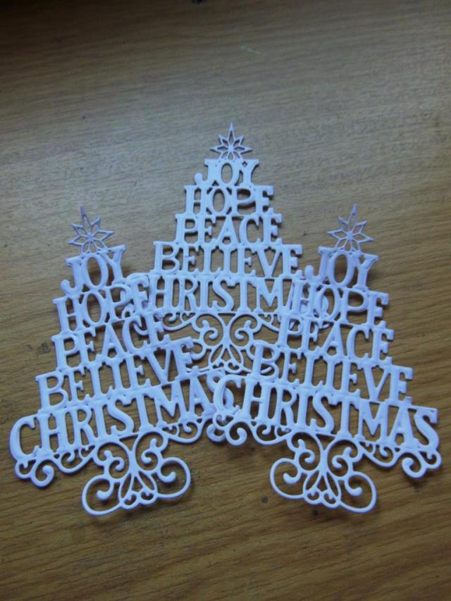 Christmas Tree Die Cut